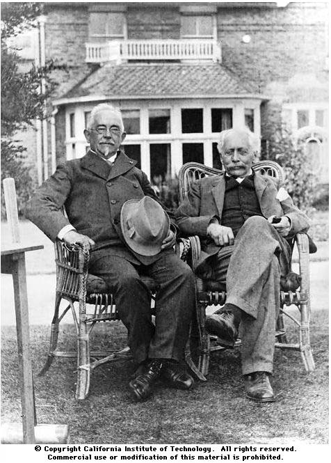bateson and johannsen in the garden